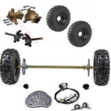 """29"""" Rear Axle kit + Front End + 6"""" Wheels+ Brake Assembly fr Go Kart Drift Trike"""