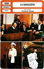 Fiche Cinéma. Movie Card. La banquière (France) Francis Girod 1980 (R3)