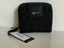 NEW! NINE WEST BLACK FOR THE NIGHT ZIP AROUND CLUTCH WALLET $39 SALE