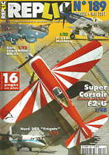 "REPLIC N°189 P-51D MUSTANG / SUPER CORSAIR F2-G / NORD 262 ""FREGATE"""