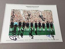 WM 1974 Weltmeister DFB komplett signiert In-person signed Foto 13 x 18 Rarität!