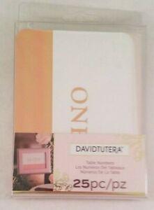 Table Numbers David Tutera Seating Arrangement 25 Cards Wedding Reception
