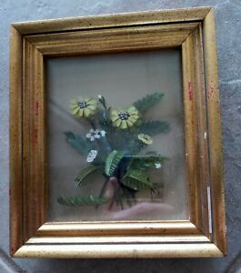 Original 3-D Oil Painting Bouquet Edmond J Nogar Signed No. A-8094