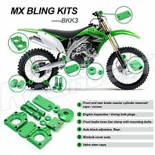 MX KAWASAKI GREEN BLING KITS KX450F 2009-2017 KX250F 2008-2017 KLX450R 2008-2014