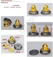 8x Spike Cone 8x Black Base Pad Shoe Isolation Turntable Speaker HiFi Sound Kit