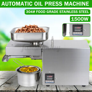 1500W Auto Oil Press Machine 304 Oil Extraction Extractor Expeller Commercial Q