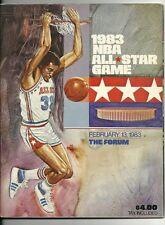 1983 NBA All Star Game Program LA Great Western Forum