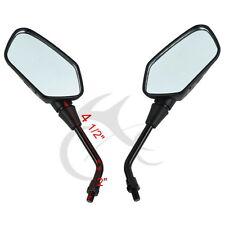 Motorcycle 10mm Black Rear View Side Mirrors For Kawasaki KLR250 KLR600 KLR650