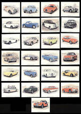 Old Classic British Motor Cars Print Trade Cards