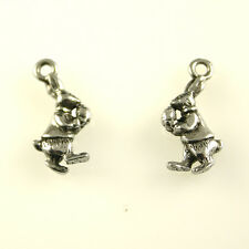Easter Bunny - 5 Silver Tone Lead-Free Pewter Charms
