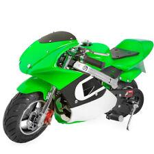 40cc 4-Stroke Pull Start Off Road Gasoline Gas Mini Super Pocket Bike- Green