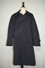 Army Trench Coat All Weather Black Belted w/ Removable Liner Men's Size 40XS