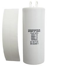 Condensateur 15 µF (15uF) pour moteur SOMFY ou SIMU de volet roulant ou store