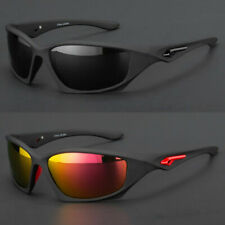 New Polarized Wrap Around Men Glasses Outdoor Sports Eyewear Driving Sunglasses