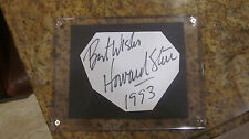 HOWARD STERN SIGNED/AUTOGRAPHED CUT (5X7 LUCITE SCREWDOWN FRAME INCLUDED)