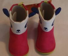 Gymboree Girls Color Happy Panda Size 4 Boots Winter NWT