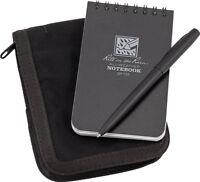 "Rite in the Rain Kit Black Book/Cover 50 Sheets Gray Paper 3"" x 5"""