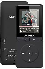 2017 Upgrade MP3, AGPTEK A20 8GB 80 Hours Music Player, 1.8'Color Screen With
