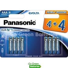 8x Panasonic AAA Evolta High Power Alkaline Batteries LR03 MX2400 MICRO 2027exp