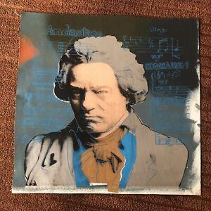 """Steve Kaufman Oil On Canvas """"Beethoven"""""""