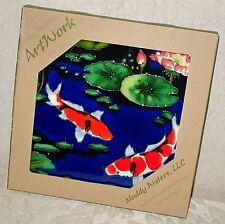Koi Pond Ceramic Art Wall Plaque - Brand New Muddy Waters Llc