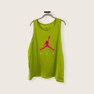 Nike Air Jordan Poolside Tank Neon Lime Green/Pink CJ0911-345 - Mens Size 2XL