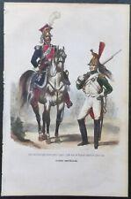 1 ILLUSTRATION OF NAPOLEON'S SOLDIERS IN COLOR, officier de chevac legers....