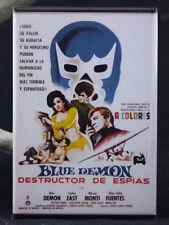 """Destructor De Espias Movie Poster 2"""" X 3"""" Fridge Magnet. Lucha Libre Blue Demon"""