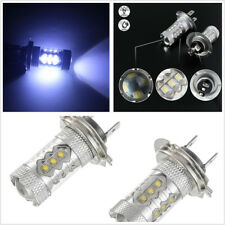 2Pcs Car LED Bulbs H7 80W 8000K 2828 for Low Beam Headlight DRL Fog Lamp 12V DC