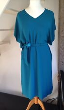 Diesel Black Gold Dress EU 44 UK 14 Teal Blue