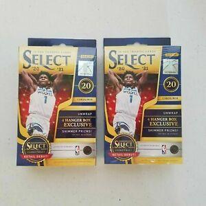 2020-21 Panini Select NBA Basketball Hanger Box Brand New Sealed Lot of 2