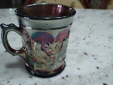 CARNIVAL Glass NORTHWOOD SINGING BIRDS ELECTRIC RAINBOW CUP