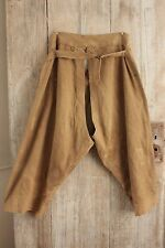 Antique French chaps linen work wear pants trousers vintage  chore workwear old
