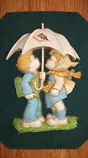 Vintage 1977 Dart Ind. Young Children Plaque Wall Hangings Homco