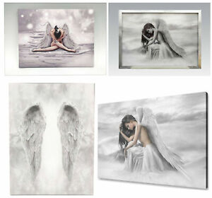 Angel Wings and Glitter Angel Canvas Wall Art Home Decoration Hanging Pictures