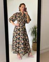 Topshop IDOL Art Deco Empire Lily Midi Dress - Multi - UK10 NEW