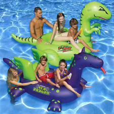 Swimline T-Rex & Sea Dragon Ride On Swimming Pool Inflatable Float Combo