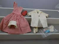 Vintage 1964 Mattel Barbie #0889 Candy Striper Volunteer Outfit & Accessories