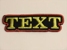 BIKER PATCH CUSTOM NAME TAG CLUB TEAM ONE TEXT LINE PERSONALISED