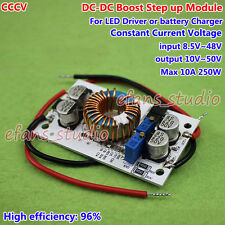 DC Boost Step-up 250W 10A  Converter CC CV 12V 24V 36V 48V Power Supply Module