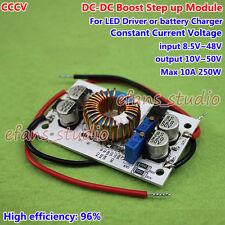 250W 10A DC Boost Step-up Converter CC CV 12V 24V 36V 48V Power Supply Module