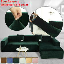 1-4 Seaters Elastic Velvet Plush Sofa Cover Corner Sectional Couch Covers Shape