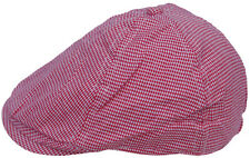 Cool4 Toddler 6-Panel Houndstooth Flatcap Red-White Flat Cap KC18
