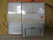 2 NIP Boxes Martha Stewart  DOVE printable place cards 40 each Silver accents