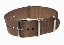 Genuine 20mm Desert N.A.T.O Military Watch Strap manufactured by MWC of Zürich