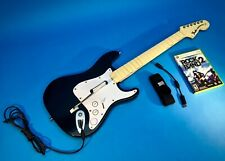 Xbox 360 Rock Band Fender Stratocaster With Rock Band 2 Game Strap Guitar Hero