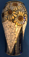 Art Deco Royal Doulton 1922-1927 Glazed  Pottery Floral Vase Numbered & Initials