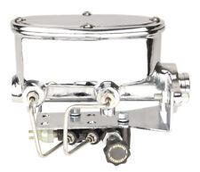 "1.125"" Bore Chrome Oval Master Cylinder Kit w/ Bottom Mount Adjustable Valve"