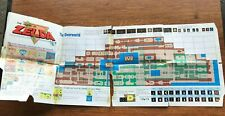 Legend of Zelda Foldable Map Poster NES Nintendo Instruction Manual Only