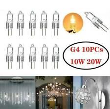 10-Pack 20 Watt 12 Volt Halogen Light Bulbs G4 Base Bi-Pin 12V 20W T3 JC Lamp